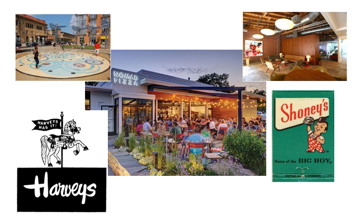 collage of eateries