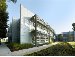 A rendering of corporate offices