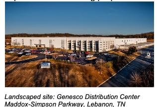 Landscaped site: Genesco Distribution Center Maddox-Simpson Parkway, Lebanon, TN