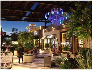 Covered Outdoor dining associated with retail center