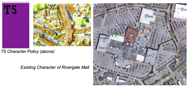 Existing Character of Rivergate Mall