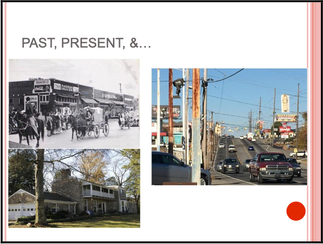 Slide with images of old and current Madison