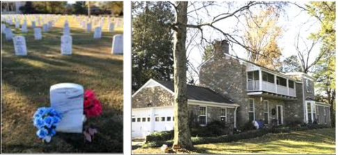 National Cemetery and Former Kitty Wells Residence